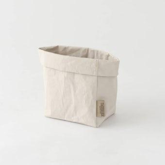 【次回入荷未定】UASHMAMA / ペーパー収納バッグ / オフホワイト(M)の商品写真