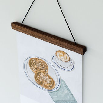 天然木の壁かけホルダー(マグネット式) / ブラウンの商品写真
