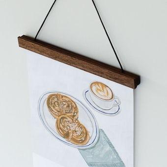 【次回1月下旬入荷予定】天然木の壁かけホルダー(マグネット式) / ブラウンの商品写真