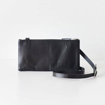 yes/イエス/ スクエアショルダーバッグ(ブラック)の商品写真