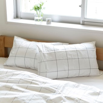 【取り扱い終了】sisdesign / 枕カバー / グラフチェック (43cm×63cm)の商品写真