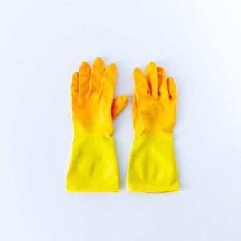 Marigold/マリーゴールド/ゴム手袋/キッチン用(イエロー)/Mサイズの商品写真