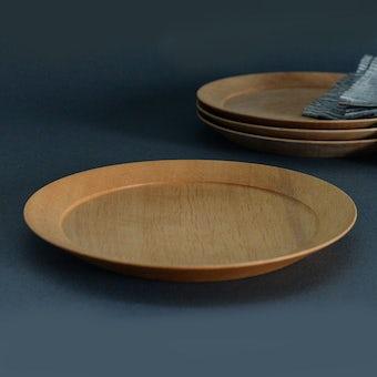 【9月下旬入荷予定】ぴったり重なる、洗える木のプレート(21cm)/KURASHI&Trips PUBLISHINGの商品写真