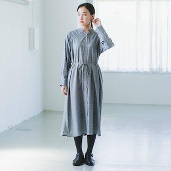 【今季終了】着まわし広がるグレンチェックのワンピースの商品写真