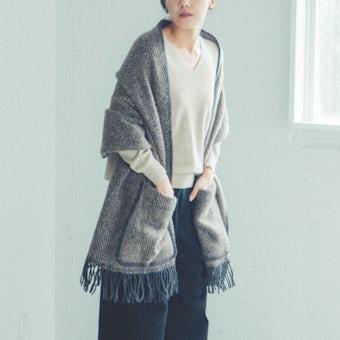【今季終了】LAPUAN KANKURIT/ラプアン・カンクリ/ショール/MARIA/ブラウンの商品写真