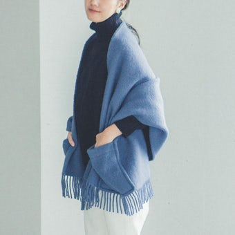 【今季終了】LAPUAN KANKURIT/ラプアン・カンクリ/ショール/UNI/ブルーの商品写真