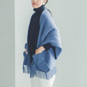 LAPUAN KANKURIT/ラプアン・カンクリ/ショール/UNI/ブルーの商品写真
