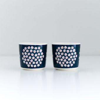 marimekko/マリメッコ/PUKETTI/プケッティ/ラテマグ2個セット(ネイビー)の商品写真