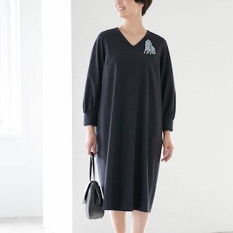 【在庫限り取り扱い終了】小さいサイズ/「大切な日もわたしらしく」フォーマルワンピース(コクーン)/atelier naruse×KURASHI&Trips PUBLISHINGの商品写真