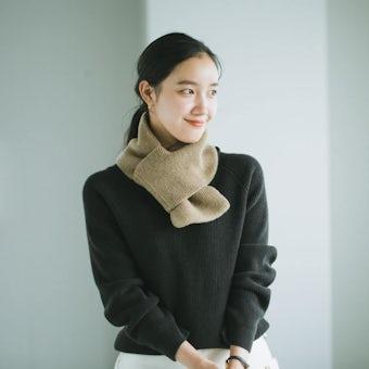 【今季終了】nest Robe / ネストローブ / ウールマフラー(キャメル)の商品写真