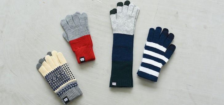 デザインもおしゃれなスマホ対応手袋