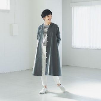 【数量限定】utilite/ユティリテ/2WAYワンピースコート(グレー)の商品写真