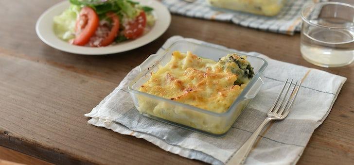 チーズがこびりつかない耐熱ガラスの器