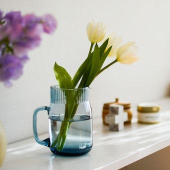 「花との暮らし、はじめよう」ガラスのフラワーベース(ピッチャー型)の商品写真