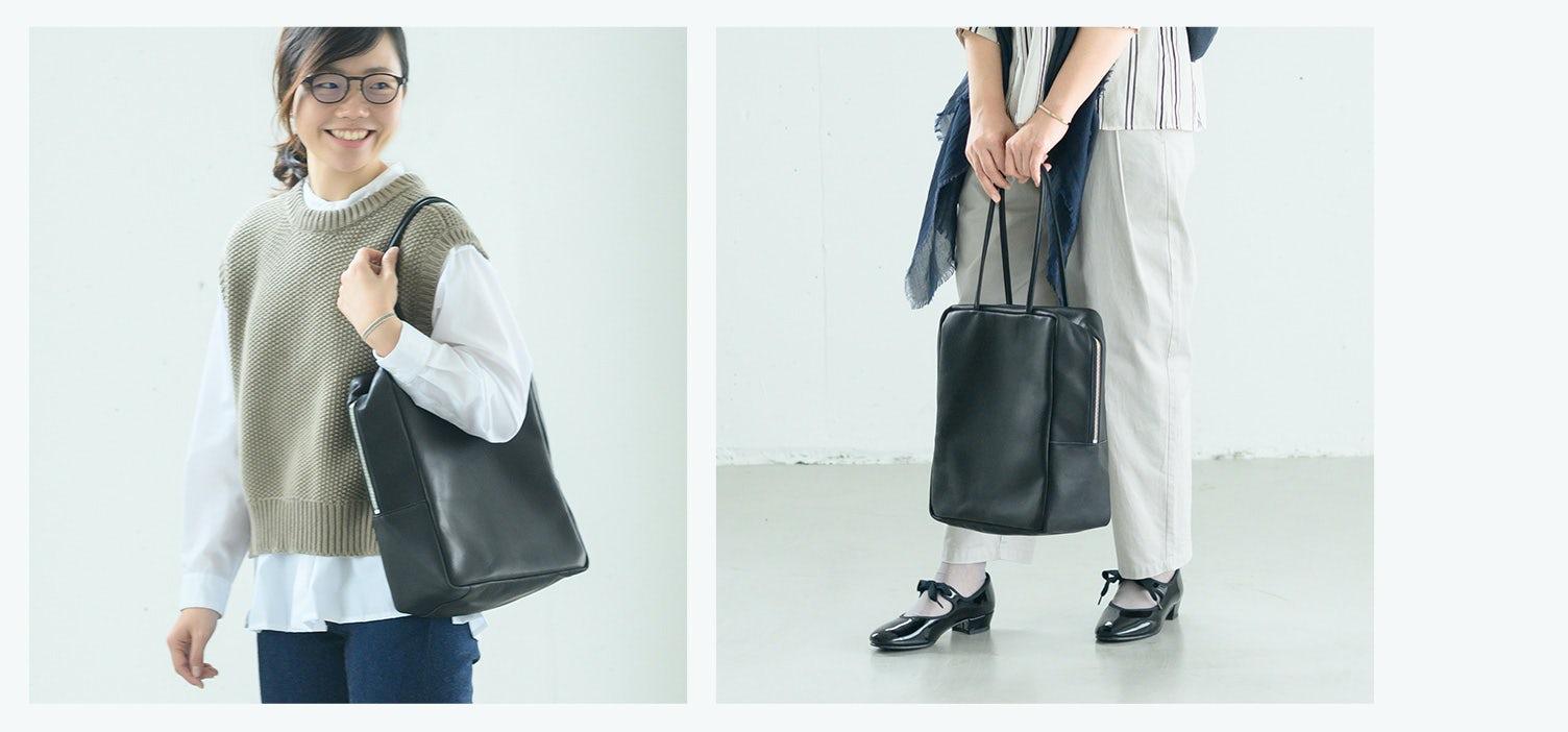 通勤にぴったり!女性らしい見た目のレザーバッグが新登場です!