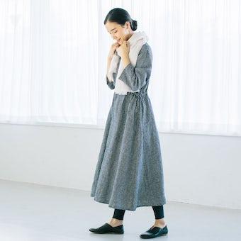 【次回入荷未定】【当店別注】fog linen work / ワンピース(チェック)の商品写真