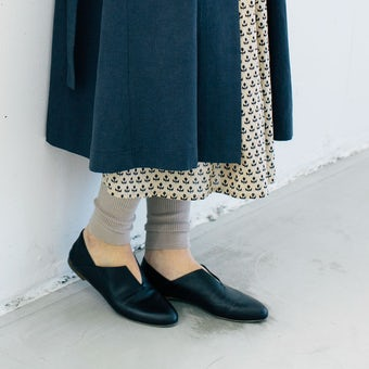 DRESS HERSELF / シルクリブレギンス / モカベージュの商品写真