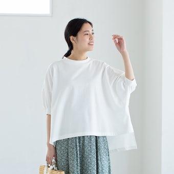 【今季終了】utilite/ユティリテ/ドルマンプルオーバー(ホワイト)の商品写真