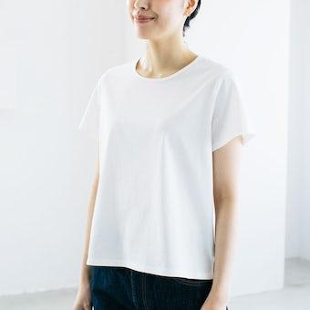 【今季終了】「大人に似合うワケがある」素肌も心もよろこぶTシャツ/ Uネック(ホワイト)の商品写真