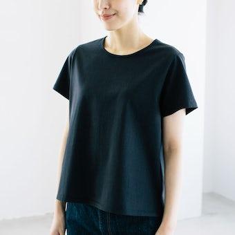 「大人に似合うワケがある」素肌も心もよろこぶTシャツ/ Uネック(ブラック)の商品写真