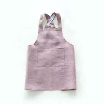 【次回8月入荷予定】【当店別注】fog linen work / キッズエプロン(ピンク)の商品写真