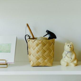 北欧のかごのような、洗える収納バスケット(Sサイズ)の商品写真