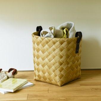 北欧のかごのような、洗える収納バスケット(Lサイズ)の商品写真