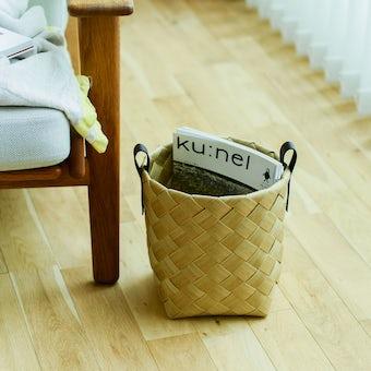 北欧のかごのような、洗える収納バスケット(Mサイズ)の商品写真