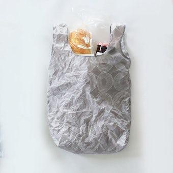 イイダ傘店 / くしゃっと収納エコバッグ(バウムクーヘン)/ グレーの商品写真