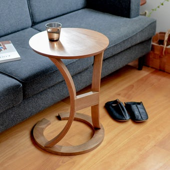 木のサイドテーブル(ブラウン)の商品写真