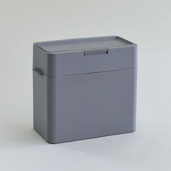 ニオイをフタする  密閉ダストボックス / ゴミ箱(9.5L / グレー)の商品写真