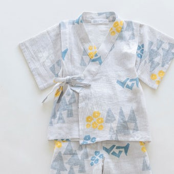 【今季終了】「北欧の森であそぼう」キッズ甚平(120cm)の商品写真