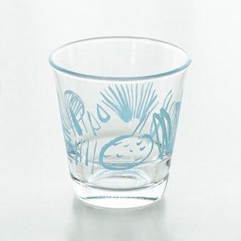 テーブル華やぐフルーツ柄のグラス / サトウアサミ×KURASHI&Trips PUBLISHING(ブルー)の商品写真