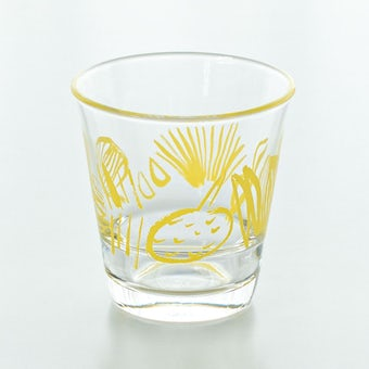 テーブル華やぐフルーツ柄のグラス / サトウアサミ×KURASHI&Trips PUBLISHING(イエロー)の商品写真
