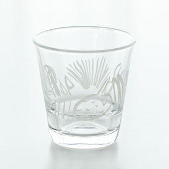 テーブル華やぐフルーツ柄のグラス / サトウアサミ×KURASHI&Trips PUBLISHING(ホワイト)の商品写真
