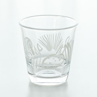 【在庫限り取り扱い終了】テーブル華やぐフルーツ柄のグラス / サトウアサミ×KURASHI&Trips PUBLISHING(ホワイト)の商品写真
