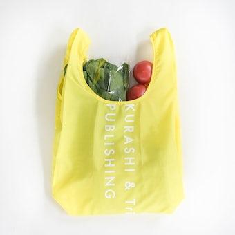 「毎日の買い物にアクセント」小さくたためるエコバッグ / Lサイズ / レモンイエローの商品写真