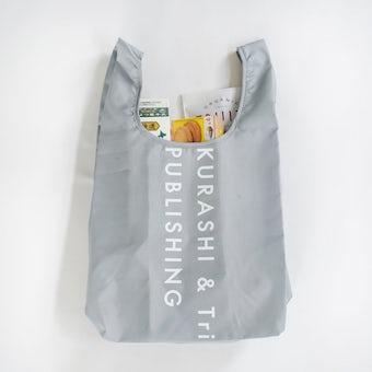 「毎日の買い物にアクセント」小さくたためるエコバッグ / Lサイズ / グレーの商品写真