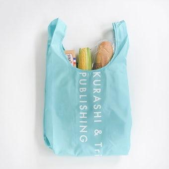 「毎日の買い物にアクセント」小さくたためるエコバッグ / Lサイズ / ターコイズの商品写真