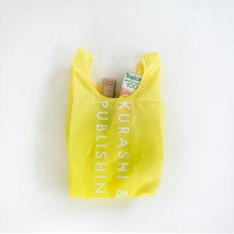 「毎日の買い物にアクセント」小さくたためるエコバッグ / Sサイズ / レモンイエローの商品写真
