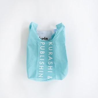 「毎日の買い物にアクセント」小さくたためるエコバッグ / Sサイズ / ターコイズの商品写真