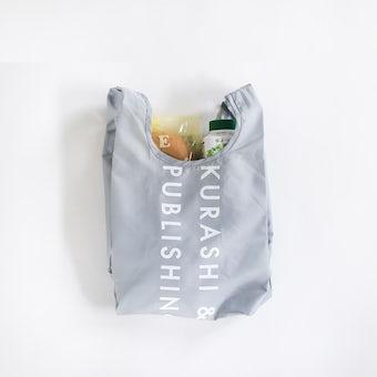 【次回11月入荷予定】「毎日の買い物にアクセント」小さくたためるエコバッグ / Sサイズ / グレーの商品写真