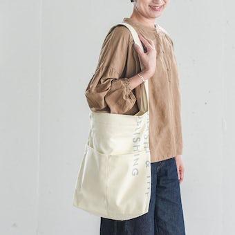 「6つのポケット、2つの持ち手」わたしの定番ショルダートート / アイボリーの商品写真