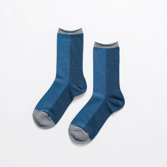 足元15cmの景色をつくる靴下 / tone(ネイビーブルー)の商品写真