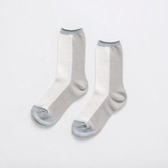 【今季終了】「足元15cm、自分だけの景色」秋色を添える気がきく靴下 / オフホワイトの商品写真