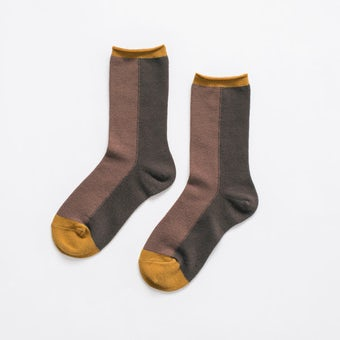 【今季終了】「足元15cm、自分だけの景色」秋色を添える気がきく靴下 / マロンブラウンの商品写真