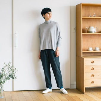 【今季終了】秋いちボトムス2020・ヘリンボーン柄 / ブラック / Sサイズの商品写真