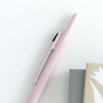 「わたし時間のおともに」スリムな3色ボールペン / グレイッシュピンクの商品写真