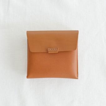 【次回3月上旬入荷予定】.URUKUST / ウルクスト / しかくの革財布 (ブラウン)の商品写真