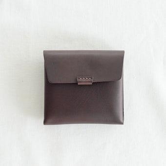 【次回3月上旬入荷予定.URUKUST / ウルクスト / しかくの革財布 (ダークブラウン)の商品写真